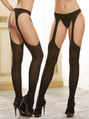 Dreamgirl Semi Opaque Sexy Suspender Pantyhose