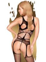 Penthouse Lingerie Gangsta Babe Garter Bodystocking (black)
