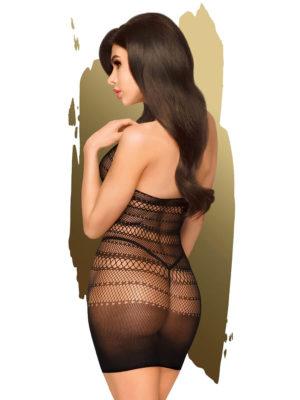 Penthouse Lingerie Epic Night Fishnet Bodystocking Dress (black)