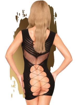 Penthouse Lingerie Flame On The Rock Hosiery Mini Dress (black)