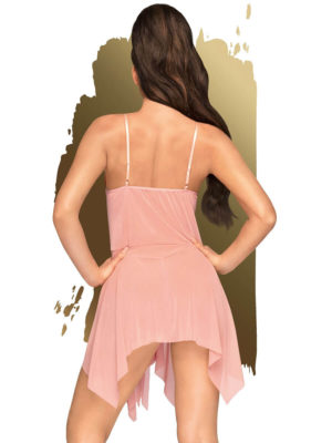 Penthouse Lingerie Sweet Beast Negligee And Thong Set (rose/pink)