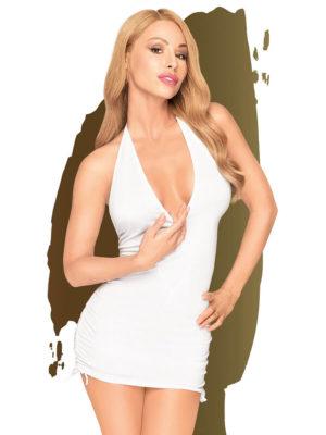Penthouse Lingerie Earth-shaker Mini Dress And G-string (white)