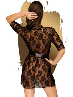 Penthouse Lingerie Sweet Retreat Kimono And Thong Set (black)