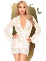 Penthouse Lingerie Hypnotic Power Kimono And Thong Set (white)