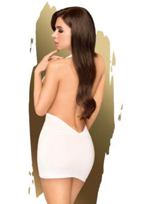 Penthouse Lingerie Heart Throb Mini Dress And G-string (white)
