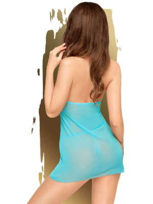 Penthouse Lingerie Bedtime Story Negligee And G-string Set (turquoise)