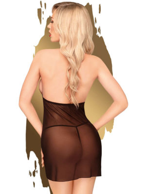 Penthouse Lingerie Bedtime Story Negligee And G-string Set (black)