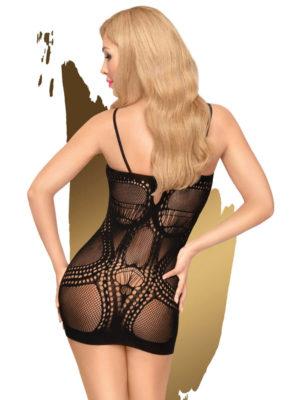 Penthouse Lingerie Above & Beyond Fishnet Hosiery Mini Dress (black)