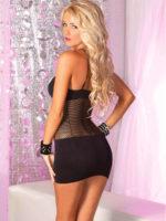 Pink Lipstick Lingerie Adrenaline Seamless Net Dress