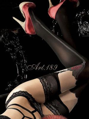 Ballerina Art.189 Hold Up Stockings (black)
