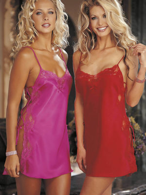 Shirley Of Hollywood 20015 Nightwear Chemise (cherry (red))