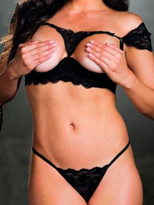 Shirley Of Hollywood 25694 Bedroom Wear Bra Set (black)
