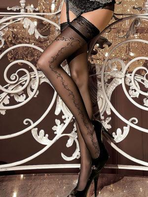 Ballerina Art.259 Hold Up Stockings (black)