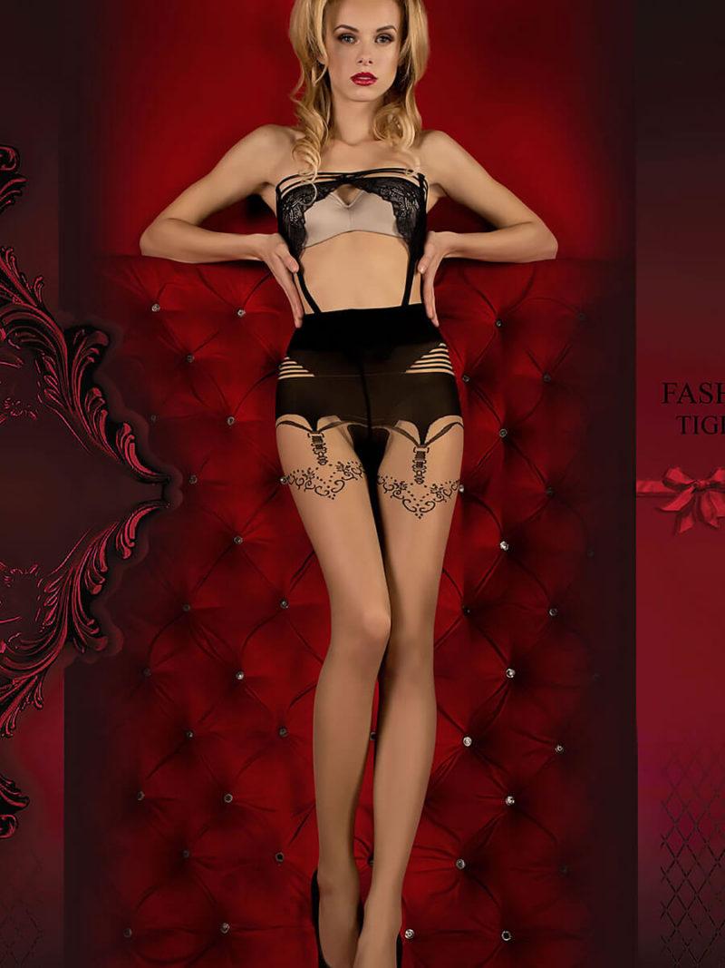 Ballerina Art.354 Exclusive Design Tights (skin/black)
