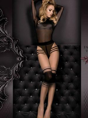 Ballerina Art.356 Exclusive Design Tights (skin/black)