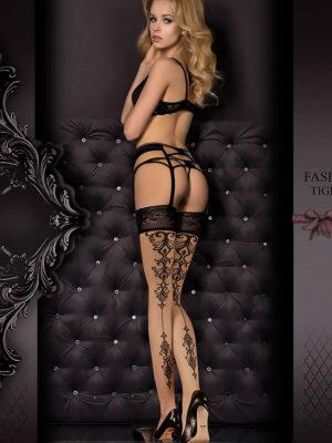 Ballerina Art.357 Hold Up Stockings (skin/black)