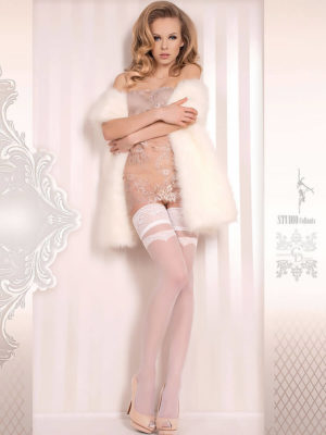 Ballerina Art.373 Hold Up Stockings (white)