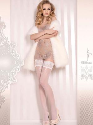 Ballerina Art.374 Hold Up Stockings (white)