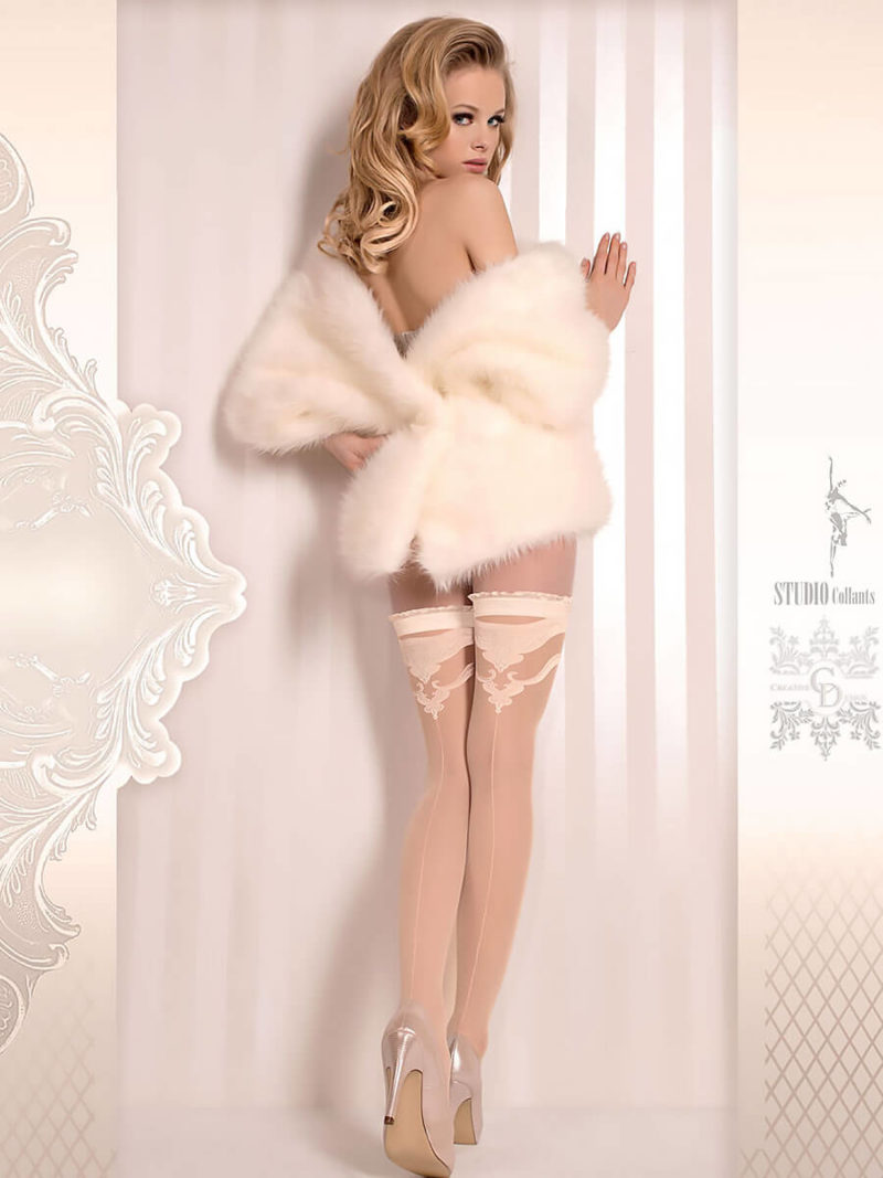 Ballerina Art.375 Hold Up Stockings (avorio/ivory)