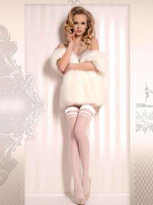 Ballerina Art.375 Hold Up Stockings (white)