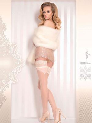Ballerina Art.378 Hold Up Stockings (avorio/ivory)