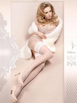 Ballerina Art.379 Hold Up Stockings (white)