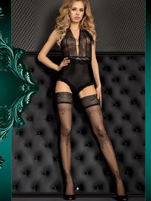 Ballerina Art.382 Hold Up Stockings (black)