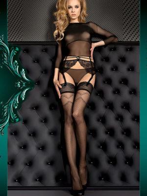 Ballerina Art.390 Hold Up Stockings (black)