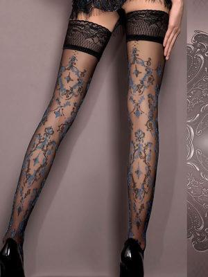Ballerina Art.416 Hold Up Stockings (black)/blue
