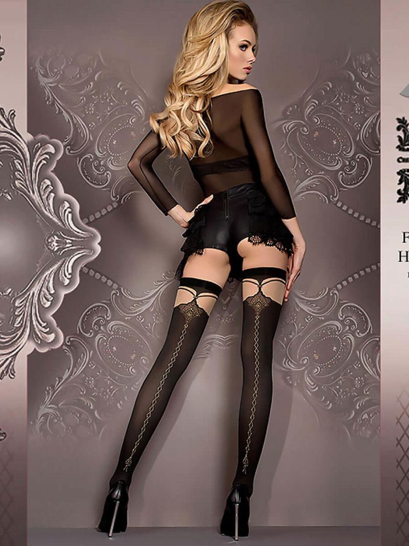 Ballerina Art.417 Stockings (black/skin)