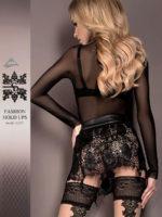 Ballerina Art.419 Hold Up Stockings (black/skin)