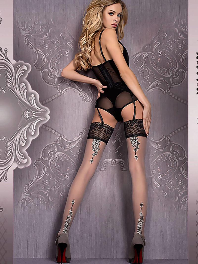 Ballerina Art.420 Hold Up Stockings (grey)