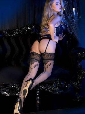 Ballerina Art.493 Hold Up Stockings (grey)