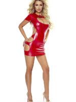 Provocative Seduction Pr7042 Wet Look Dress (red)