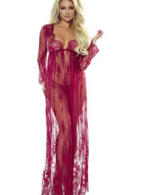 Provocative Seduction Pr7046 Elegant Robe (wine)