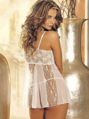 Shirley Of Hollywood 96120 Bridal Babydoll (white)