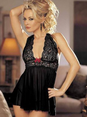 Shirley Of Hollywood 96164 Nightwear Chemise (black/red)