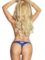 Provocative Seduction Pr1737 Royal Affair Thong (blue)