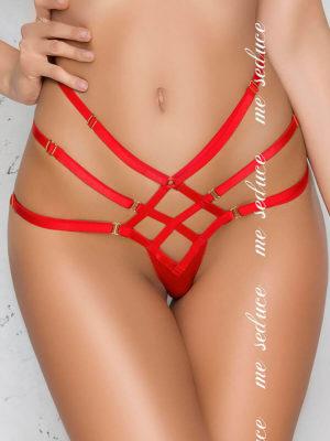 Me Seduce 'aisha' Erotic Fantasy Strappy Knicker Thong (red)