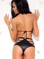 Me Seduce 'alexis' Erotic Fantasy Wet Look Top Lingerie Set (black)