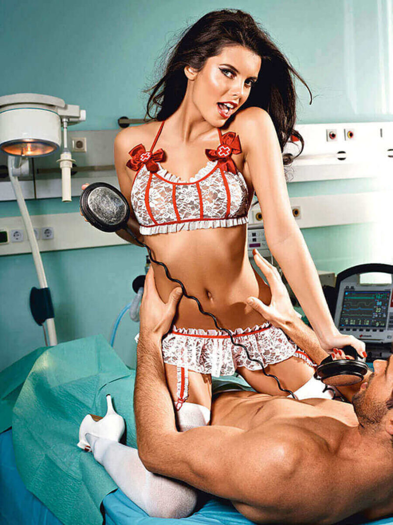 Sexy Nurse Emergency Room Lace Adult Costume (plus Size)