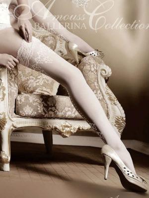 Ballerina Art.003 Hold Up Stockings (white)