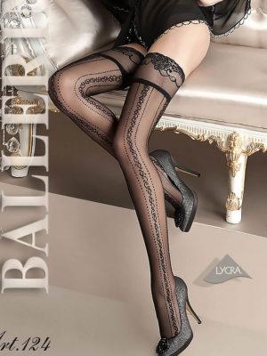 Ballerina Art.124 Hold Up Stockings (black)