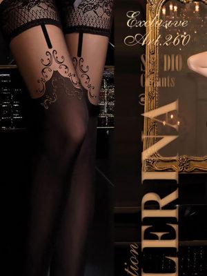 Ballerina Art.260 Hold Up Stockings (black)