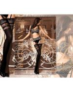 Ballerina Art.263 Hold Up Stockings (black)