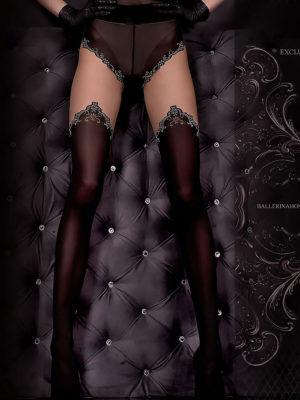 Ballerina Art.305 Exclusive Design Tights (black/skin)