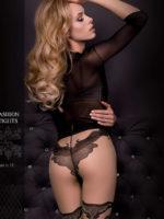 Ballerina Art.308 Exclusive Design Tights (black/skin)