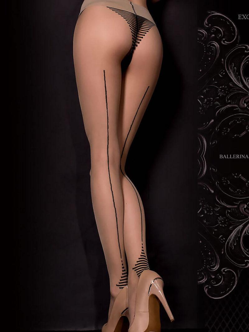 Ballerina Art.311 Exclusive Design Tights (black/skin)