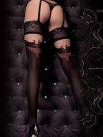Ballerina Art.319 Hold Up Stockings (black/skin)