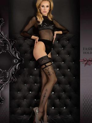 Ballerina Art.343 Hold Up Stockings (black)